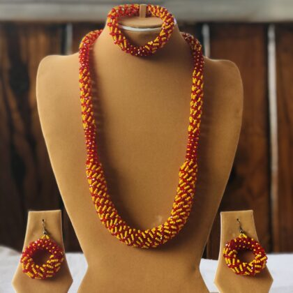 Colorful Crystal Mala Necklace, with good quality Beaded Necklace and added earing M5