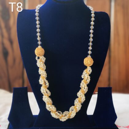 White round and Yellow Necklace T8
