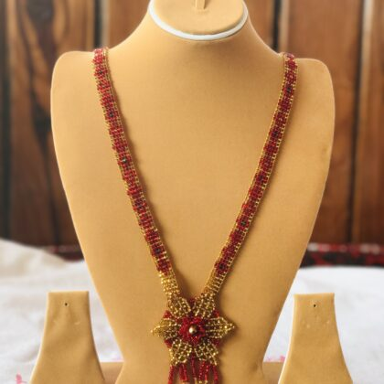 Red and Blue Crystal star mala, Necklace T12