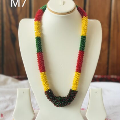 Rainbow colour Mala, Necklace Big M7