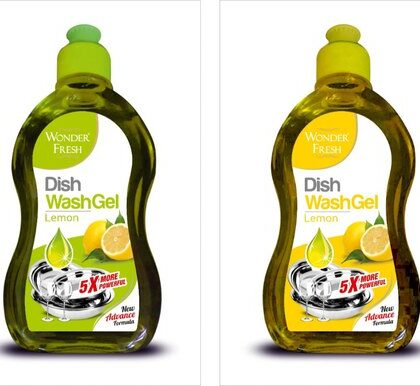 Wonder Fresh Dish wash Gel Green 5L